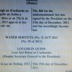 Thank you very much Mr President for the Xmas present you gave #irishwater by signing away our Exemption on Xmas day http://t.co/oFBQxG22IN