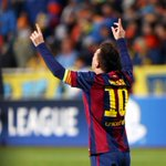 #FCBLive Messi goal celebration vs Apoel. More photos: http://t.co/KBDWMfmC9H #ApoelFCB #UCL http://t.co/yECMakBwaO