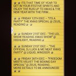 #TheFirm Xmas Raving Guide!! Where 2 catch The Firm @RyderTF @BigOneTF @FriskyTF over the run up 2 Xmas & The NewYear http://t.co/XUY7xDXitR