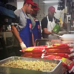 .@BenGarland63 organized a group a seven #Broncos to visit @SalvationArmyUS for Thanksgiving meal prep. #BeAChampion http://t.co/G0E0qQOKgL