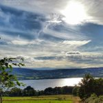 An amazingly beautiful sky over Lough Derg, #Ireland http://t.co/f4PO175HJQ
