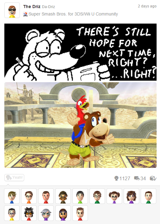 The ability to draw over screenshots in Smash Bros Wii U has led to some amazing Miiverse posts. http://t.co/dwG8wtaa3b