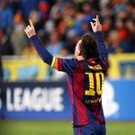 Final. El Barça gana al Apoel por 0 a 4 con un gol de Luis Suárez y un hat-trick de Messi #FCBlive http://t.co/2yvcCGvg51