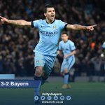 FT: City 3-2 Bayern. Thats it! Three goals for @aguerosergiokun in an incredible roller-coaster game! #cityvbayern http://t.co/IrYgemdHAi