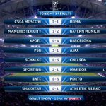 Still playing in Lisbon, but here are your full-time scores: http://t.co/28itvZ5Zey #SkyCL #SkyFootball http://t.co/tAsiz2cEyC
