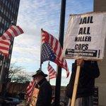 About 3 dozen now in Vance square #Ferguson. #avlphotos #avlnews @asheville http://t.co/BtbYIEBFYd