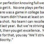 Absolutely love this quote from John Groce after last nights game.  Excellence vs. Mediocrity #Illini http://t.co/SrFlSxDMdV