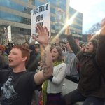 """""""Hands up dont shoot"""" in Vance square. #Fergsuon #avlnews @asheville http://t.co/9JdMZsnoGs"""