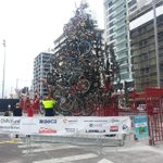 Christmas tree of bikes on Queens Wharf http://t.co/nY568Pm7BB