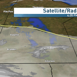 Yellow line indicates back edge of cloud slumping to the south overnight. Cold air behind that line #cbcmb #chilly http://t.co/tSPMPH5UXW