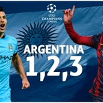 Saluting @Argentinas finest... hat-trick heroes @aguerosergiokun and @TeamMessi come to the fore! #UCL http://t.co/B5aE675DOY