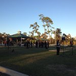 Rally participants gather at #Houstons MacGregor Park for 5 p.m. post-#Ferguson demonstration #hounews http://t.co/wxG7ElGaSg