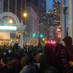 The scene at #ShutItDownATL. The people are standing up & they arent backing down! #JusticeForMikeBrown http://t.co/3Ky43gb6kA
