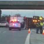 KHP trying to get semi turned upright on Turnpike near milemarker 50. Onramp from Kellogg to Turnpike is OPEN. http://t.co/at0BPz2YY7