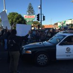Another day of protest in #LA. Demonstration at Crenshaw/MLK. #Ferguson #MikeBrown @KNX1070 http://t.co/wxNMVwMx3G