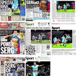 Wednesdays back page newspapers are all about one man.... @aguerosergiokun #mcfc #Manchester http://t.co/Gf0vYjVJNP