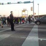 "Houston blocking traffic and MLK/OST! Chant: ""Shut it down for Mike Brown!"" #Ferguson #FergusonDecision http://t.co/u0KragVYDc"
