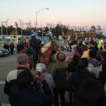 Demonstrators block OST @ MLK. HPD horses here. http://t.co/ZOmTocIsdZ