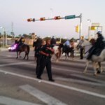 Police clearing street, so traffic can pass @KHOU #HouNews #Ferguson #MikeBrown http://t.co/3YSyjVLr8x