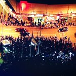 Crowd at protest at Underground Atlanta continues to grow. Things remain peaceful. Weve got to go get fuel in NC2. http://t.co/wYwZIg4vwA