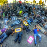 #Fergsuon protesters laying down at intersection of Crenshaw & MLK right now.@NBCLA http://t.co/tNcKkmxZNf