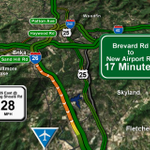 LANE CLOSED on I-26 EB in #Asheville due to a crash. Heres a look at the speeds right now along 26 http://t.co/iKR4B5Kd2z