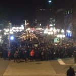 About 400 people take 4.5 minutes of silence to remember. #cbcott http://t.co/6tSZ9Kbib6