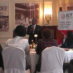 Private breakfast with Cabinet Secretary of ICT @FredMatiangi. To meet president this afternoon. @BambaGroup #kenya http://t.co/20SZotnigk