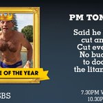 "Erk 1st, 2nd & 3rd ""@TheFeedSBS: Its time for us to take votes on Douche Of The Year. First up, Tony Abbott. http://t.co/cdsiG213rc"""