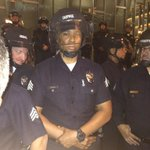 This brother has kept his cool as black protesters have continued to berate him. #dtla http://t.co/GPz1kdXBQw