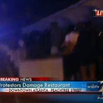 Channel 2s @KerryKWSB with protesters moving into midtown Atlanta. WATCH LIVE: http://t.co/HzYVXWF1ZE http://t.co/OyycIf6KOg