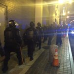 The #ATLFerguson crowds seem to have dispersed but Atlanta riot police are back on the move. http://t.co/T5krO6KTPi