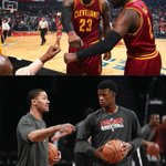 LeBron James and Kyrie Irving have played more career minutes together (399) than Jimmy Butler and Derrick Rose (314) http://t.co/8pCXr9v2ni