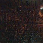 #Ferguson demonstrators outside of #LAPD headquarters in Downtown LA. #KTLA http://t.co/MQBg1sYYeu
