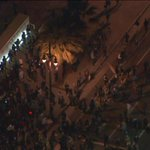 Crowd appears to be splitting up as some demonstrators walk away from LAPD headquarters http://t.co/5lQe9Nrxc8 http://t.co/kesRWySSEV