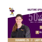 Obendorf pacing the Duhawks on the defensive end. @Vmay21 leads all scorers with 11 points! #LORvsCAR #d3h http://t.co/l8TPHIeYOI