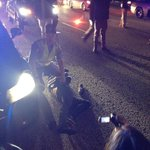 State trooper arresting protester in middle of downtown connector. #ATLFerguson http://t.co/X3vCYn8rXZ