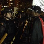 Protesters face to face with cops. #ATLFerguson http://t.co/VmJHMmaRuP