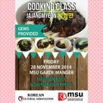 @MSUmalaysia We will be in @MSUmylibrary today so come and register with us for our #Cooking_Class for #Jajangmyeon. http://t.co/W1phplilIg