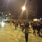 "And were headed north toward Marietta St. #ATLFerguson ""hands up, dont shoot"" chants again. #ShutItDownATL http://t.co/rk0jLArJpc"