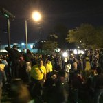 Approx 100 demonstrators now gathered on TSU campus, HPD surrounded on horse & on foot @KHOU #khou11 http://t.co/h67mnJ7OU3