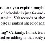 This is what Jeff long of the @CFBPlayoff had to say about Boise State vs. Marshall and their ranking http://t.co/B0s64rhP8r