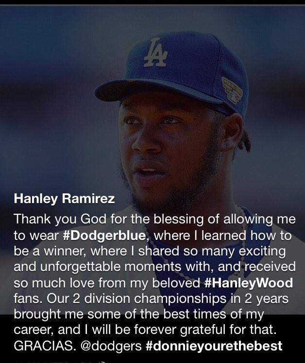 From Hanley's Facebook page http://t.co/HWfkjx8nZ5