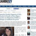 "#YoMeRebelo Diputada UDI Claudia Nogeira ""Se Revela"" contra el juez que la condenó por Fraude al Fisco: http://t.co/D4LV0Jnac7"