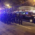 Cops in riot gear with batons on standby. #ATLFerguson #ShutItDownATL http://t.co/AN4M3bVUKq