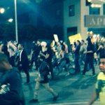 Protest just passed 9th and Figueroa #peaceful #chanting #LosAngeles #FergusonDecision http://t.co/BMJIl0LaUj