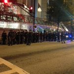 Police in riot gear are lining the streets around Woodruff Park: http://t.co/HzYVXWF1ZE #wsbtv http://t.co/xZj15PLiJg