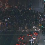 #Ferguson protesters at LA Convention Center at Figueroa and Pico - WATCH #LIVE http://t.co/TAa3UPbl9h http://t.co/0kLA0WtFXJ