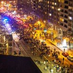View from my bedroom window - Protests on Mass Ave in Boston. Photo cred @deathcorez #massave #backbay #ferguson http://t.co/7sq2UtDKE5