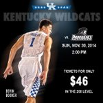 RT @UKTix: A Top-25 showdown is coming to @Rupp_Arena as @KentuckyMBB takes on No. 25 Providence | TIX: http://t.co/94YUspoBca http://t.co/…